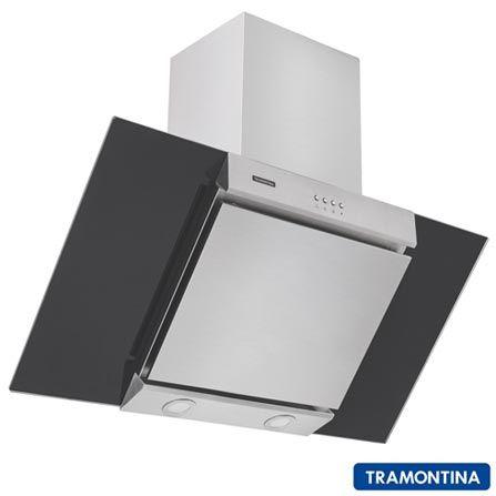 Coifa de Parede Tramontina New Vetro Flat B 90 com Filtro de Alumínio - Vazão de Exaustão: 700 m2/hl(FAST 2689,00 & HOME 2.467,00)
