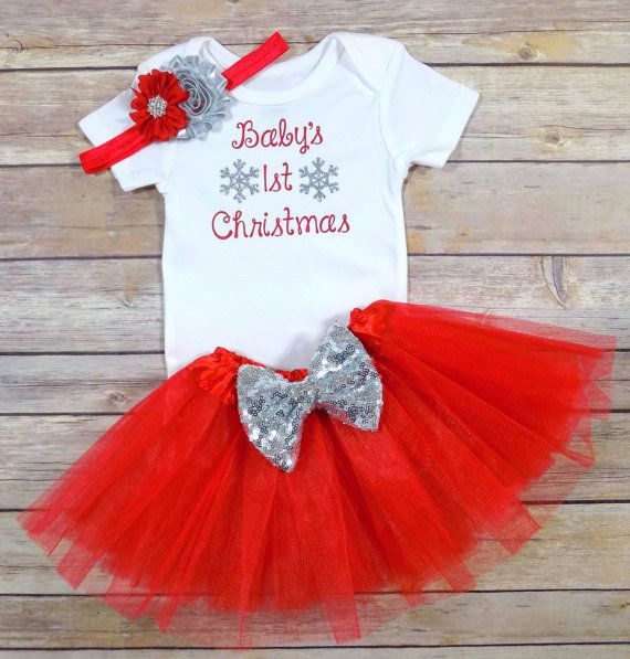 baby girls first Christmas baby girls first by TheLittleQueenBee