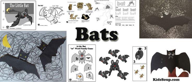 bats preschool and kindergarten activities, crafts, and lessons