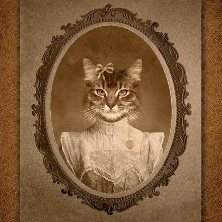 Digitial pet portraits! Would make a fun photoshop lesson