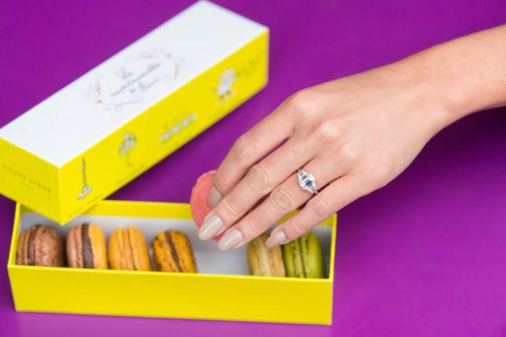 A box of macarons