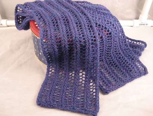 Knit Scarves Eyelet Lace Scarf Diagonal Lace Scarf