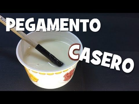 Pegamento casero especial cartapesta - SPECIAL HOMEMADE GLUE FOR CARTAPESTA - YouTube