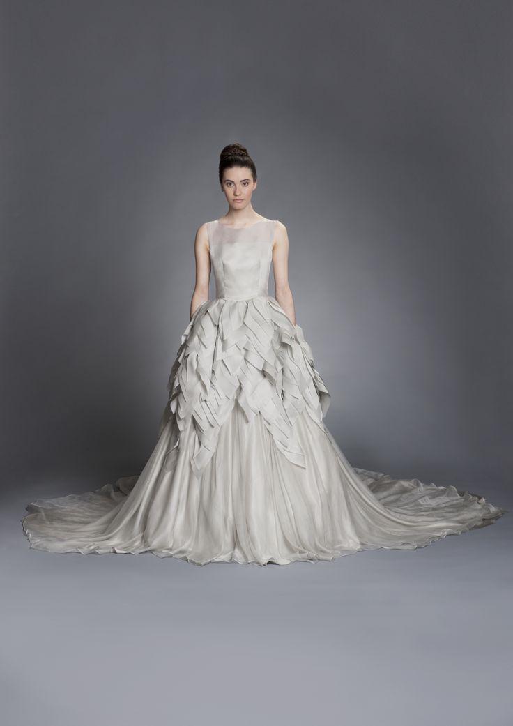 Fabulous Elizabeth Stuart silk wedding gown available at Everthine Brides in Illinois Spring