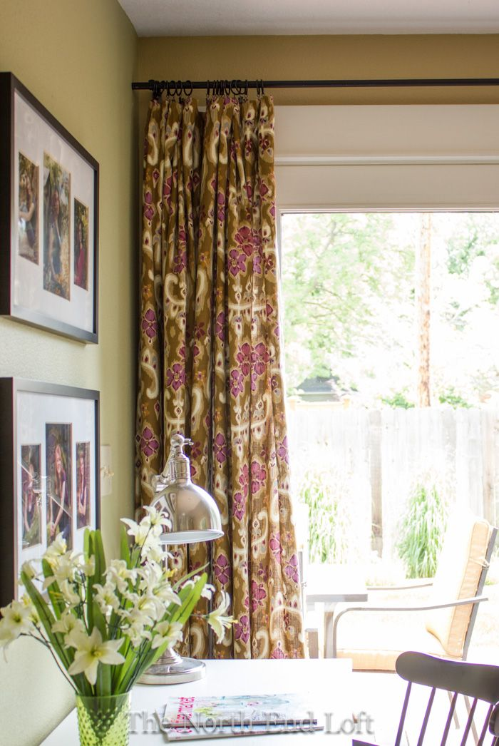 The North End Loft: My Spring Curtains and DIY Curtain Rod