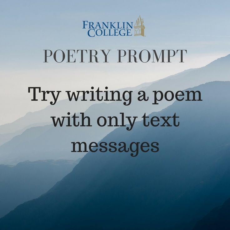 creative writing exercises poetry These owl resources will help you with the basics of creative writing this section includes resources on writing poetry, fiction, and creative -owl exercises.