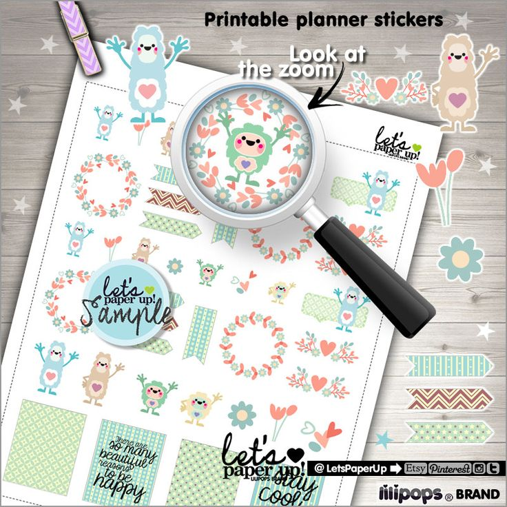 60%OFF - Floral Stickers, Printable Planner Stickers, Monster Stickers, Weekly Stickers, Planner Accessories, Life Quotes, Cute