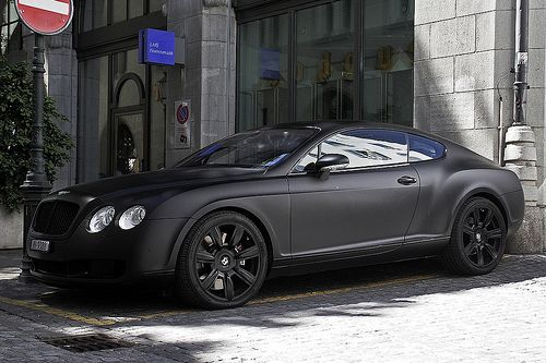 Bentley GT Coupe Matte Black