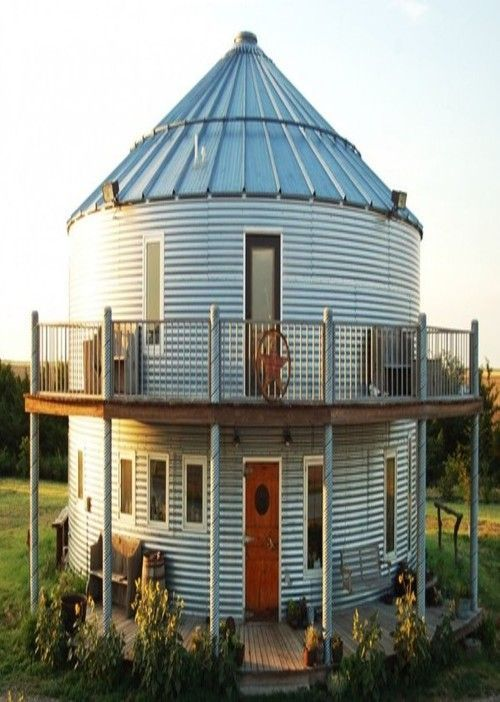 grain silo house uk home kits bin creative tiny how much does a cost