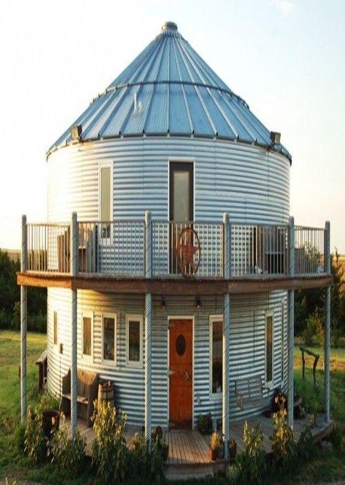 11 best grain bin cabin images on pinterest grain silo for Barn and silo playhouse