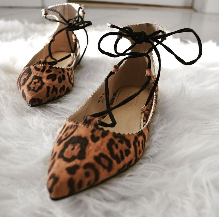 The Animal Print lace up flats that makes dressing up or down fun