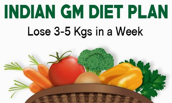Indian Vegetarian Diet to Lose Weight – 7 Days GM Diet .7 day vegetarian diet plan was developed for the well being of General Motors Inc