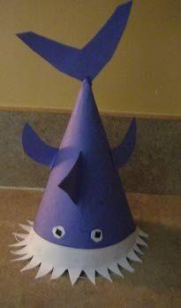How to Make a Shark PartyHat ~ Cómo hacer un sombrero tiburón