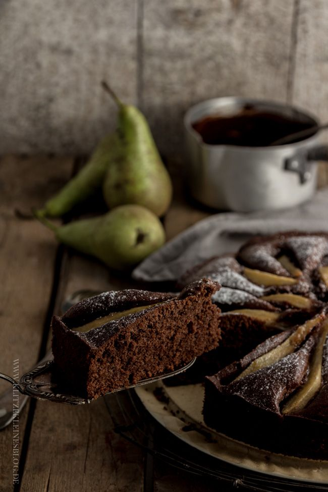 Birnen Schokoladen Kuchen