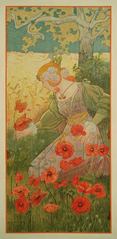artnouveaustyle:  Summer by Alexandre de Riquer, 1899.