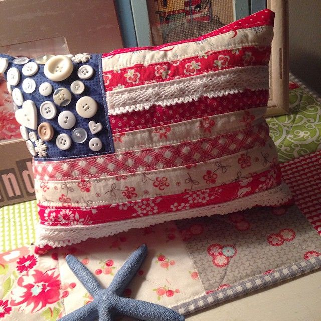 """hooray for making flag pillows and everything red white & blue this past month. ❤️⭐️ I hope you all have a safe & fabulous 4th of July weekend.…"""