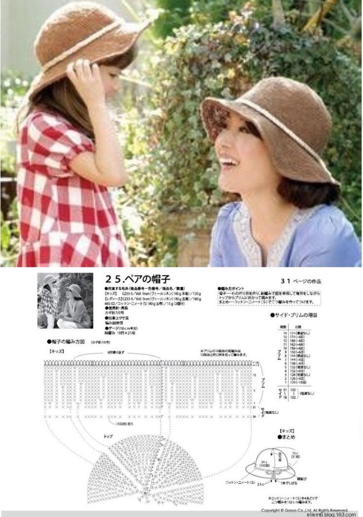 Mejores 1343 imágenes de шляпки en Pinterest | Gorros, Sombrero de ...