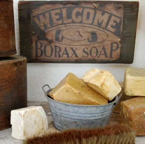 Lye soap...old fashioned display for the Laundry Room...