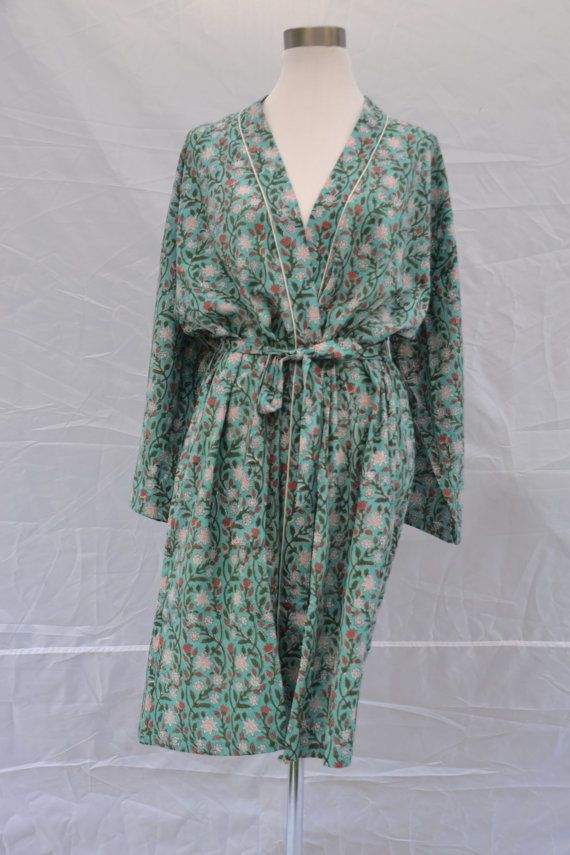 Check out this item in my Etsy shop https://www.etsy.com/au/listing/505827151/cotton-bathrobe-kimono-indian-block