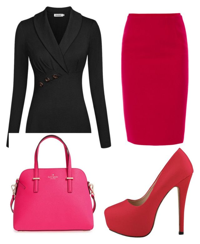 """Office Wear"" by tracy-aspeling on Polyvore featuring Elie Tahari and Kate Spade"