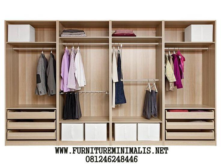 Wardrop Organizer Minimalis Terbaru | Lemari Pakaian Serbaguna. - Furniture Minimalis Jepara