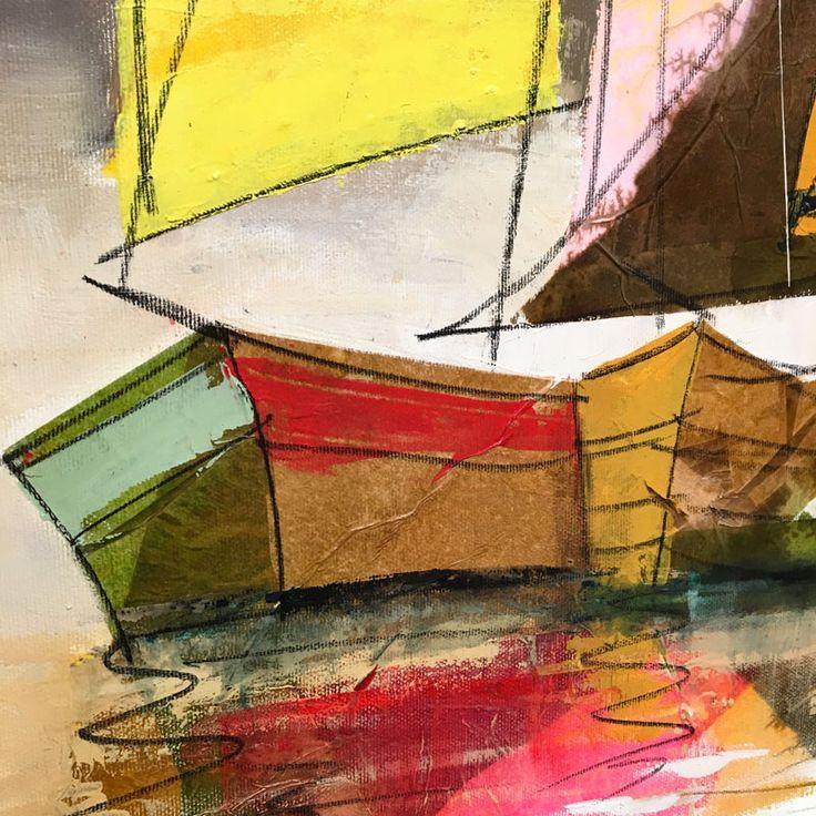 Zoom del quadro di Paolo Fumagalli, artista di fluidofiume Galleria d'Arte Trieste