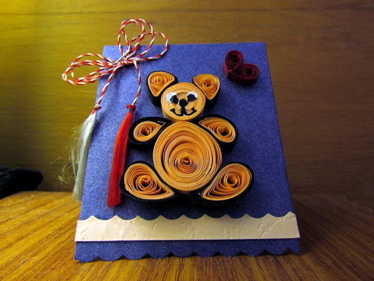Quilling baby bear