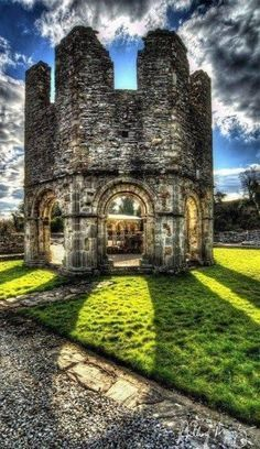 At the Mellifont Abbey in County Louth, Ireland.