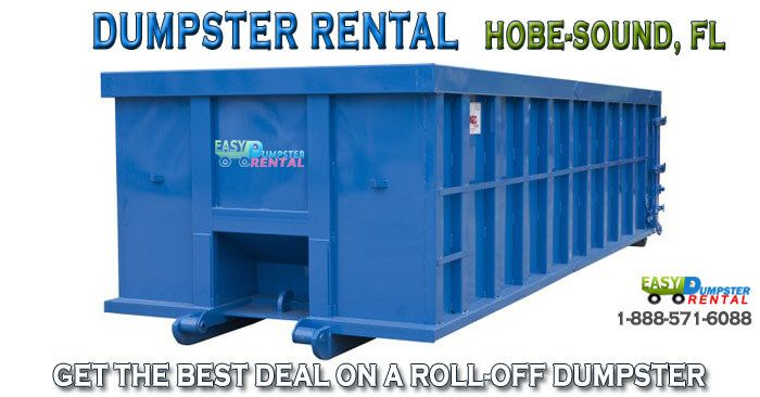 Hobe Sound, FL at EasyDumpsterRental Dumpster Rental in Hobe Sound, FL Get the Best Deal on a Roll-off Dumpster How We Give Hobe Sound the Best Deal and Service on Dumpsters: Easy Dumpster Rentalhas serviced over 100,000 different jobs across America from small renovations to large companies. We provide the best service for any ... https://easydumpsterrental.com/florida/dumpster-rental-hobe-sound-fl/