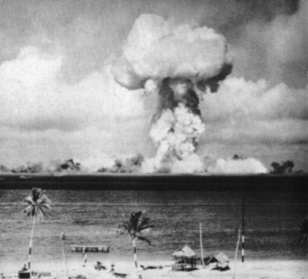 Crossroads Able, a 23-kiloton air-deployed nuclear weapon detonated on July 1, 1946 using the Demon Core.