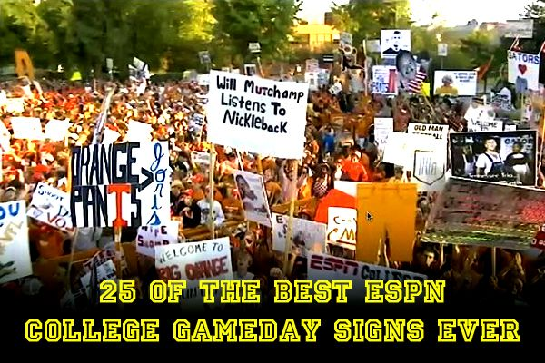 ESPN College Football gameday - AtBeTheFan | 25 of the Best ESPN College Gameday Signs Ever | Total Pro Sports