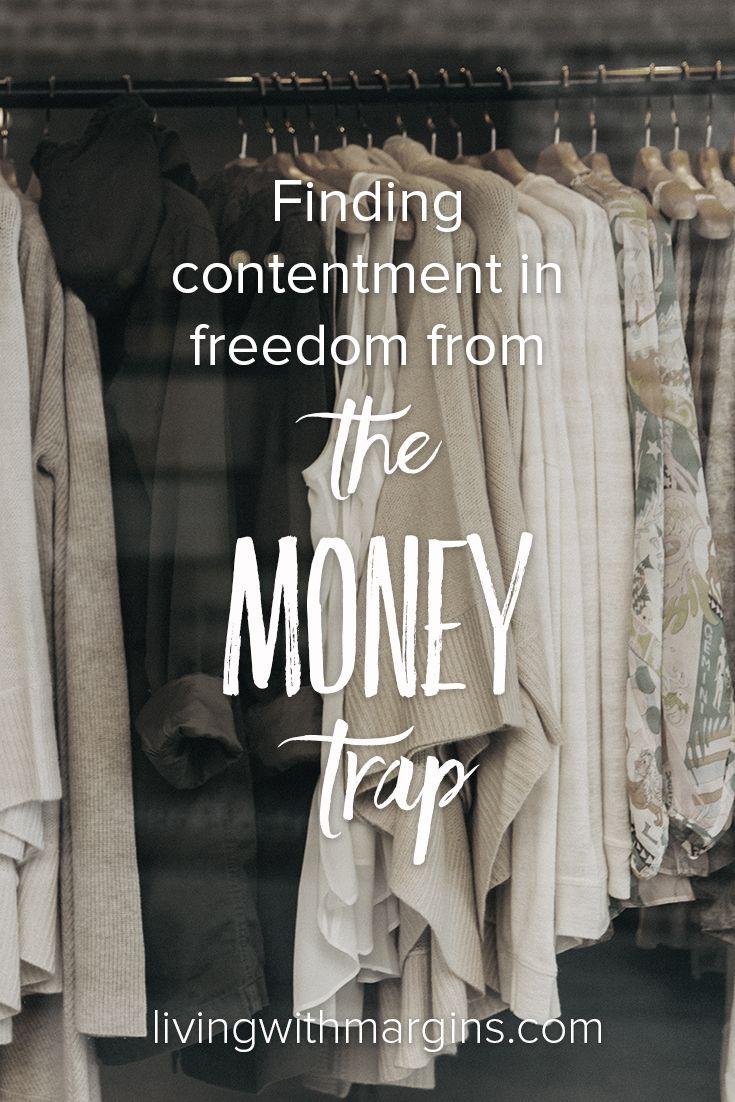 We get sucked into believing that more money will solve our problems. But, it's a trap! Contentment and freedom come from loving God, not money.