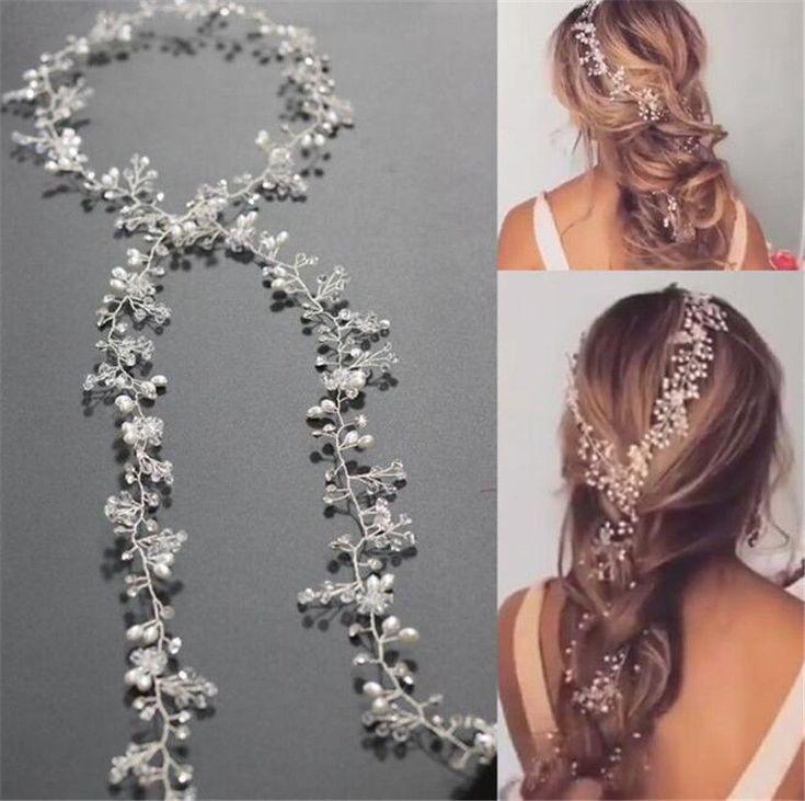 Princess Crystal Headband Wedding Bridal Pearl Long Hair Chain Band Crown Tiara | Clothing, Shoes & Accessories, Wedding & Formal Occasion, Bridal Accessories | eBay!