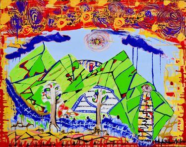 "Saatchi Art Artist Cruz Artista Colombiano; Painting, ""Paralelos de Vida"" #art"