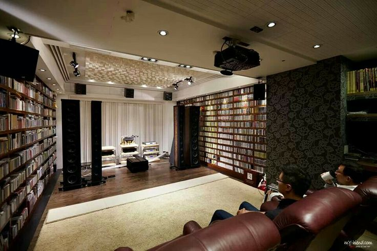 Audiophile setup that doubles as a theater with media ...