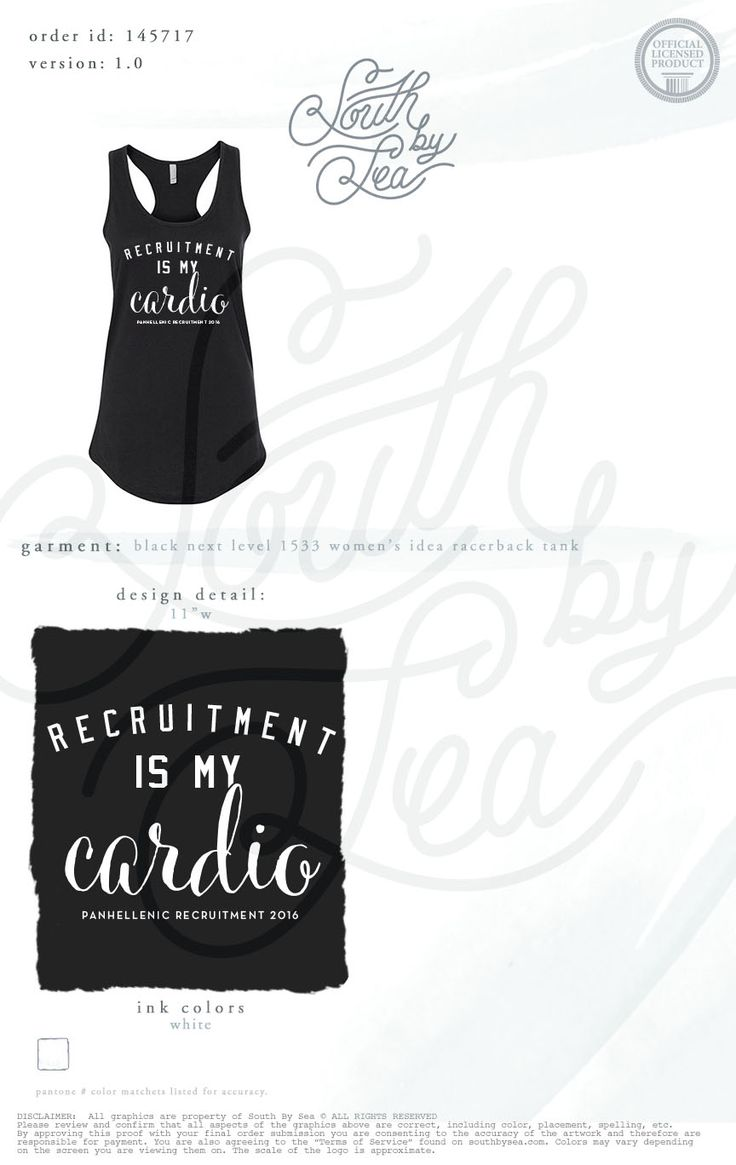Recruitment is my Cardio   Panhellenic Recruitment   National Panhellenic Conference   Quotes   South by Sea   Greek Tee Shirts   Greek Tank Tops   Custom Apparel Design   Custom Greek Apparel   Sorority Tee Shirts   Sorority Tanks   Sorority Shirt Designs