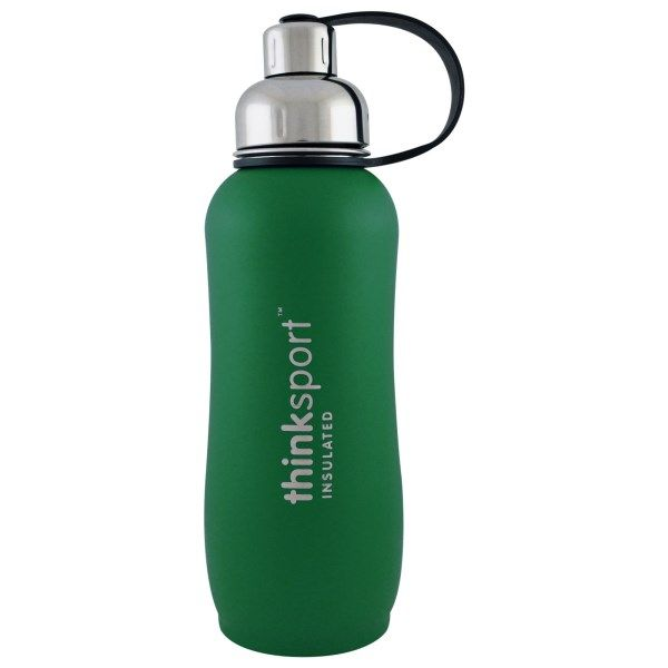 Think, Thinksport, Insulated Sports Bottle, Green, 25 oz (750ml)