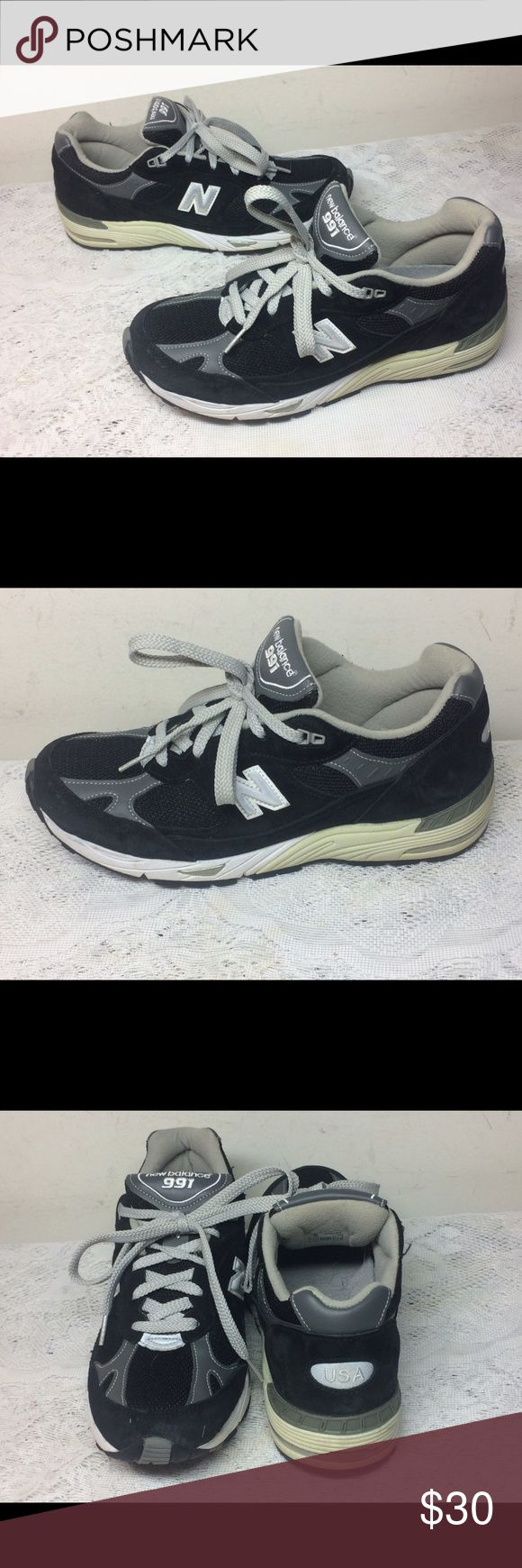 WOMEN'S NEW BALANCE W991BK RUNNING SHOES SIZE 9.5 Excellent Used Condition,  No Wear or Tear