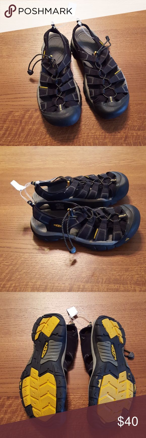 Keen water sandals New, Keen Newport H2 sandals. See the photos from their website on benefits.Runs about half size small. Has SS written on each shoe due to being a clearance non-returnable item at Cabela's( see photo #4)...will never see when wearing them. Keen Shoes Sandals & Flip-Flops