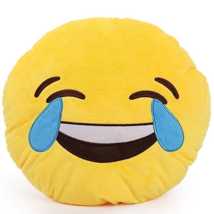 Emoji Crying Laughing Pillow
