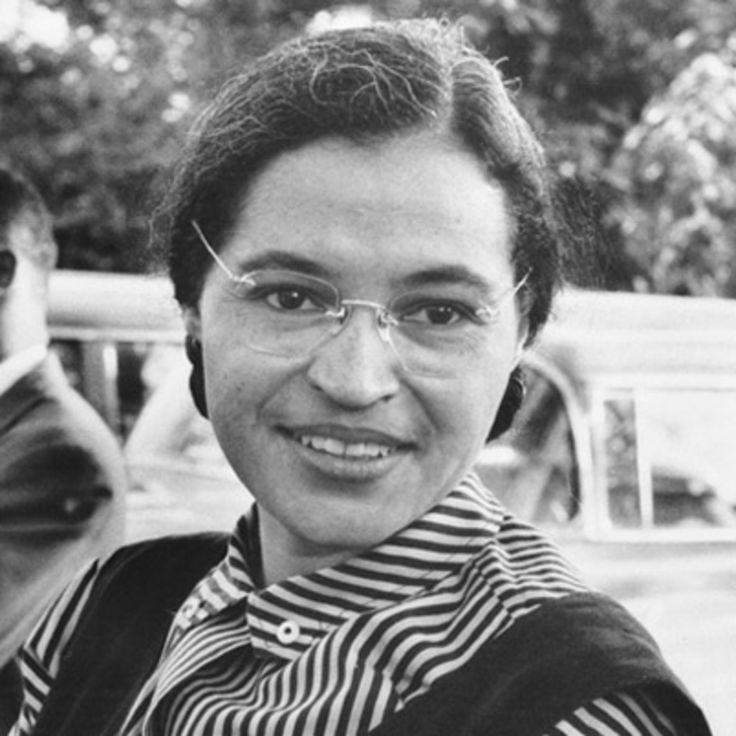 Civil rights activist Rosa Parks refused to surrender her bus seat to a white passenger, spurring the Montgomery boycott and other efforts to end segregation.