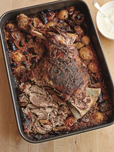 This cumin slow-roasted shoulder of lamb from One Pot Wonders makes for a comforting and hearty meal – perfect when served with couscous. It's very hard to beat the pleasure of a good a roast dinner, and we promise this one will delight the whole family.