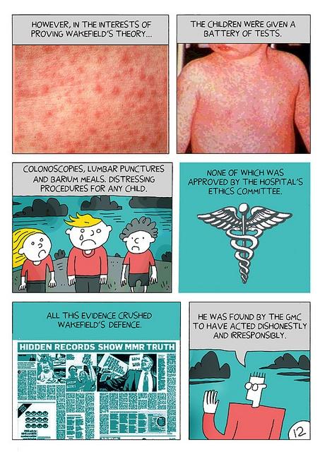 MMR 12 Vaccination Scandal Story by Darryl Cunningham, via Flickr