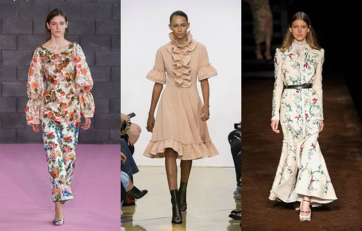 Ruffles, puffy sleeves, high-collar necklines, and loads of flowers—we spied these Victorian-era influences and more at shows like Emilia Wickstead, J.W. Anderson, and Erdem.