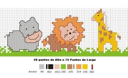 Cenefa animales selva | PUNTO DE CRUZ | Pinterest | Punto Cruz ...