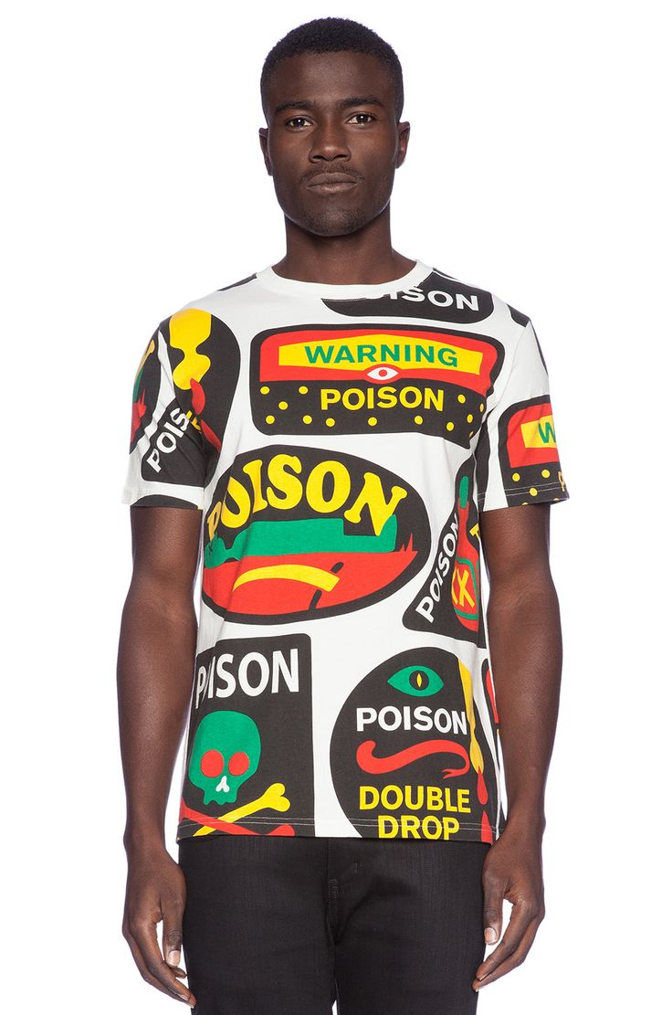 Lazy Oaf Poison Tee in White   REVOLVE