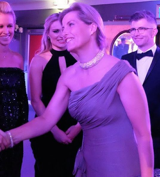 December 7, 2016. Countess Sophie of Wessex, as Patron of England Hockey, attended the Golden Ball at the Tower of London. The event held to celebrate Great Britain Hockey women's team's Olympic Gold medal success.. The Countess of Wessex wore Bruce Oldfield gown.
