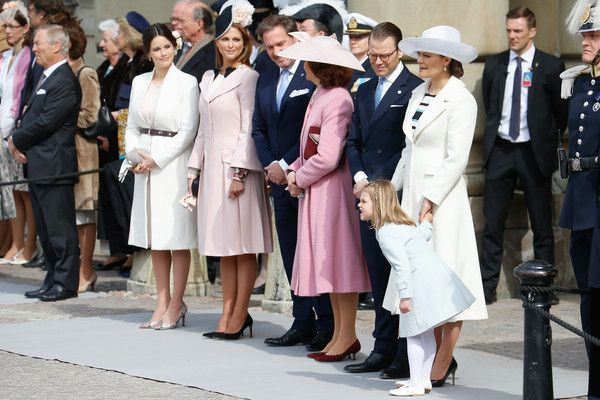 Princess Victoria Photos - (L-R) Princess Sofia, Princess Madeleine of Sweden,Christopher O'Neill, Queen Silvia of Sweden, Prince Daniel of Sweden, Crown Princess Victoria of Sweden and Princess Estelle of Sweden are seen at the celebrations of the Swedish Armed Forces for the 70th birthday of King Carl Gustaf of Sweden on April 30, 2016 in Stockholm, Sweden. - The Swedish Armed Forces Celebration - King Carl Gustaf of Sweden Celebrates His 70th Birthday