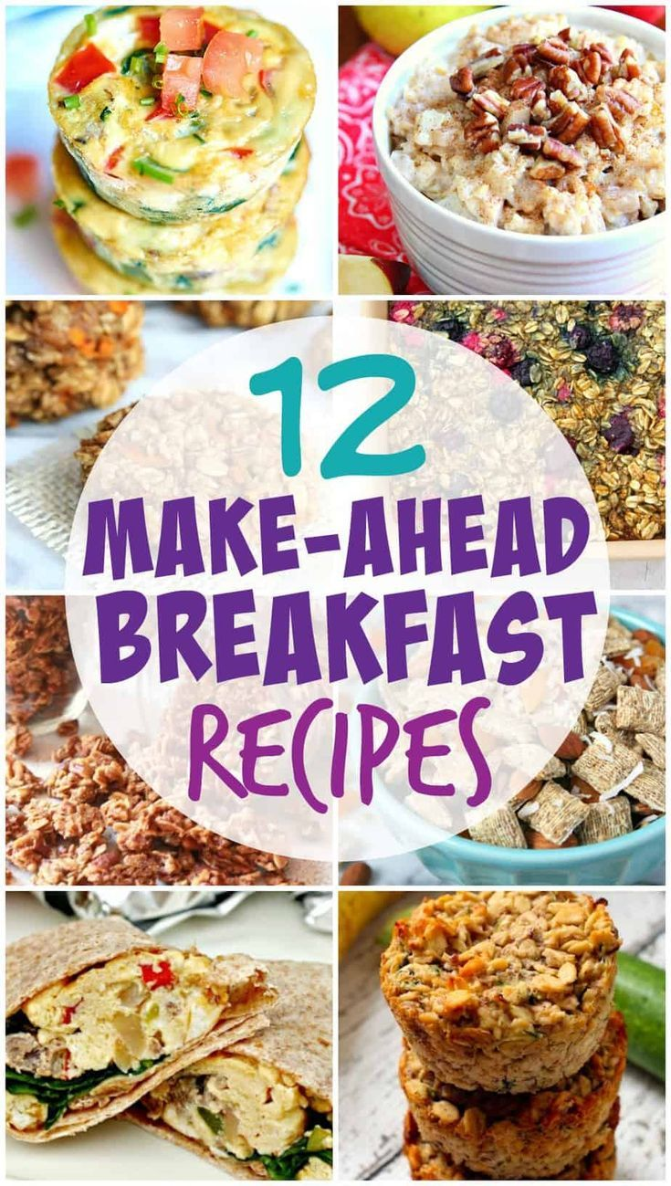 Easy And Healthy Make Ahead Breakfast Recipes For The Entire Family