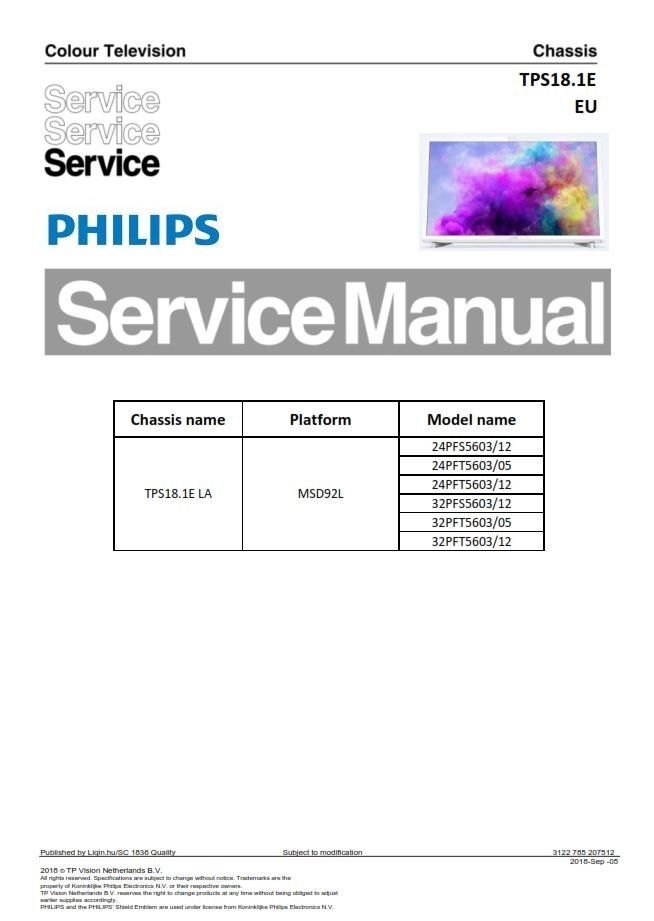 Amazing Philips 32Pfs5603 24Pfs5603 Tv Service Manual And Repair Wiring Digital Resources Remcakbiperorg